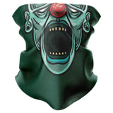 Frankenstein Clown Face Mask Snood - Purple Print House