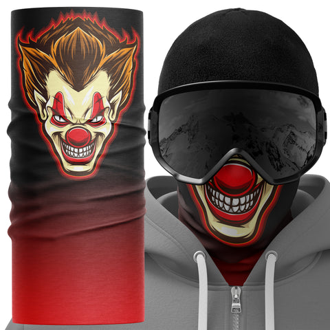 Psycho Clown Face Mask Snood - Purple Print House