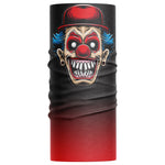 Scary Clown Face Mask Snood - Purple Print House