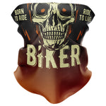 Born to Ride Biker Face Mask Snood - Purple Print House