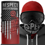 Respect Brotherhood Biker Face Mask Snood - Purple Print House