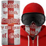 British by Birth English by the grace of god Snood Face Mask Snood Face Mask - Purple Print House