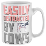Easily Distracted By Cows Farming Mug