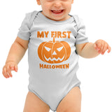 My First Halloween Baby grow - Purple Print House