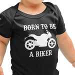 Born to be a Biker Funny Baby grow - Purple Print House