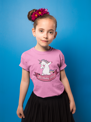 Unicorn Girls Birthday T Shirt - Purple Print House