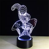 Lampe LED Spiderman 3D Multicolore