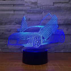 Lampe LED 3D - Audi R8 (7 couleurs interchangeable) - LesLampes.fr