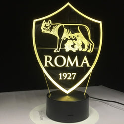 Lampe LED 3D - As Roma (7 couleurs interchangeable) - LesLampes.fr
