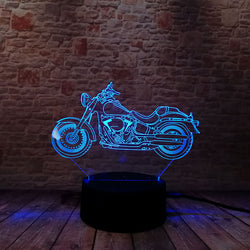 Lampe LED 3D - Moto biker (7 couleurs interchangeable) - LesLampes.fr