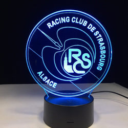 Lampe LED 3D - Racing Club de Strasbourg (RCSA)