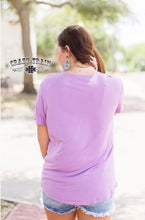 Load image into Gallery viewer, Very Fave Lace V Neck - Lavender