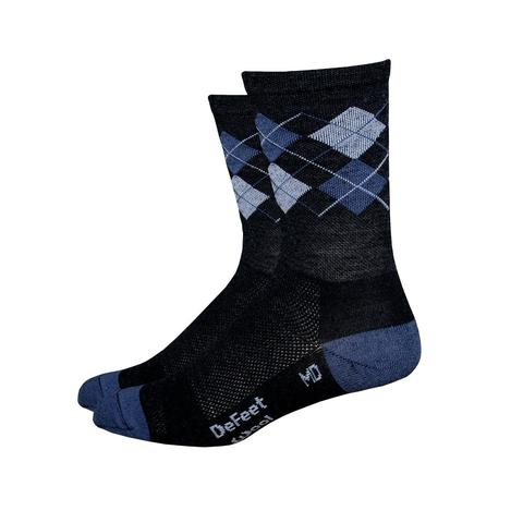 "DeFeet Wooleator 5"" Argyle Grey"