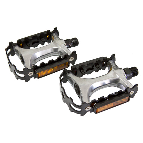Damco Black/silver alloy pedals