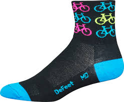 "DeFeet Aireator 3"" Cool Bikes (black neon)"