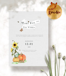 Sunflowers and Vineyard Watercolor Bundle