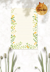 Yellow Bells Watercolor Background