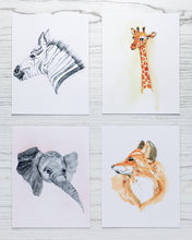 Load image into Gallery viewer, Set of Four Animal Prints