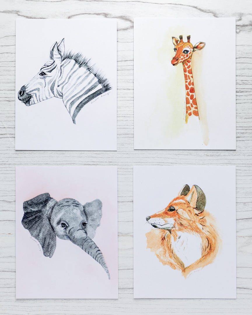 Set of Four Animal Prints