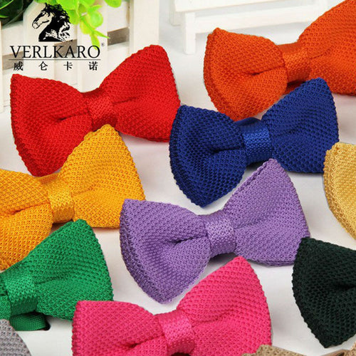 Classical Knitted Bowtie Pre-Tied and Adjustable