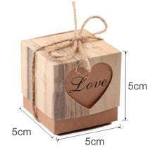 Load image into Gallery viewer, 50 Vintage Wedding Favour Boxes With Twine Decoration