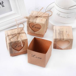 50 Vintage Wedding Favour Boxes With Twine Decoration