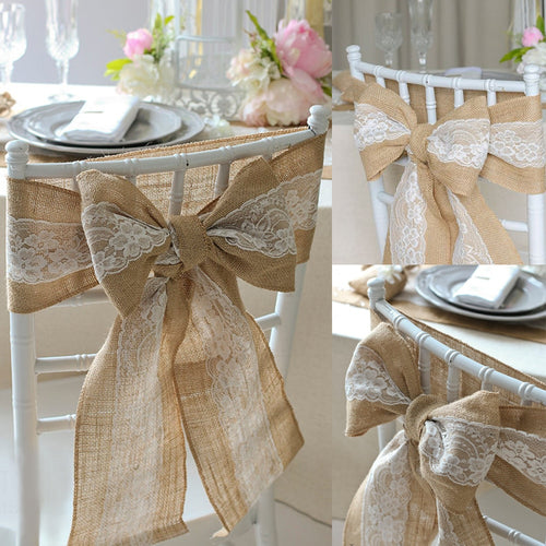 Vintage Hessian Jute Burlap Chair Ties