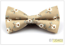 Load image into Gallery viewer, British Style Vintage Flower Print Bow tie for Men
