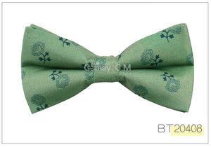 British Style Vintage Flower Print Bow tie for Men
