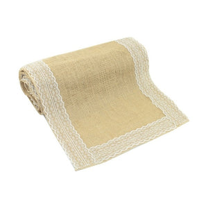"1pcs 12""x 108"" Vintage Country Jute Hessian Table Runner"