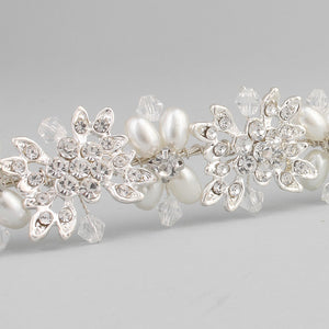 Luxury Crystal And Pearl Bridal Headpiece