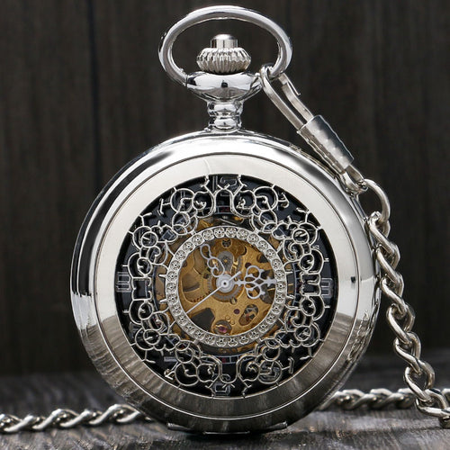 Mechanical Vintage Hollow Pocket Watch