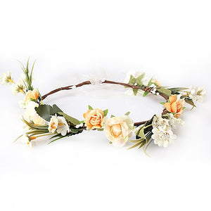 Beautiful Floral Crown Wedding Hair Band