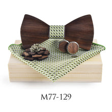 Load image into Gallery viewer, Extremely Stylish Wooden Neck Tie Set