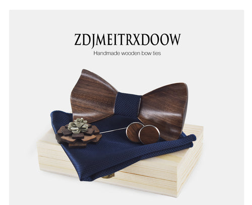 Extremely Stylish Wooden Neck Tie Set