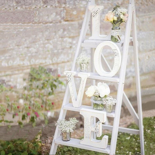 Romantic White Wooden Wedding Letters