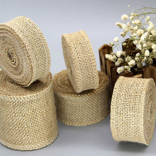 Natural Jute Burlap Ribbon Natural For Decoration