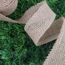 Load image into Gallery viewer, Natural Jute Burlap Ribbon Natural For Decoration