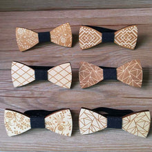 Load image into Gallery viewer, Stylish Wooden Bow Tie