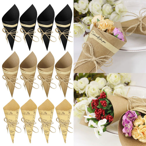 50Pcs DIY Kraft decorative Paper Cones