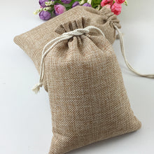 Load image into Gallery viewer, 50pcs Vintage Natural Burlap Hessian Favour bag