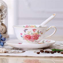 Load image into Gallery viewer, British Vintage Ceramic Teacup ( 1 pce Cup + Saucer + Spoon )