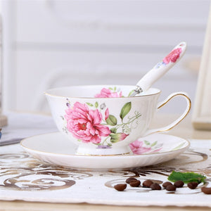 British Vintage Ceramic Teacup ( 1 pce Cup + Saucer + Spoon )