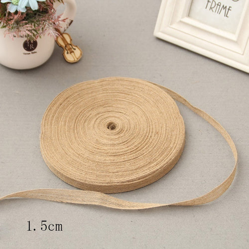 5M Natural Jute Hessian Burlap Ribbon