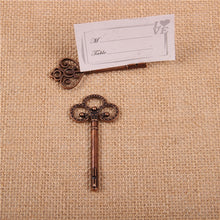 Load image into Gallery viewer, Vintage Tag Holder / Metal Key Shaped