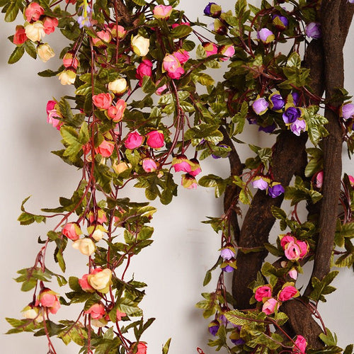 Hanging Artificial Rose Garland for Wedding Decoration