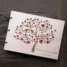 Load image into Gallery viewer, Stunning Rustic Wooden Guest Book