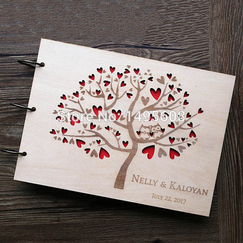 Stunning Rustic Wooden Guest Book