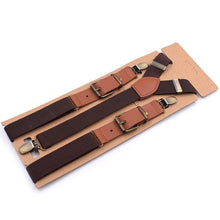 Load image into Gallery viewer, Men's Vintage looking 3 Clip Strap Braces for Trousers
