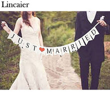 Load image into Gallery viewer, Rustic JUST MARRIED Garland